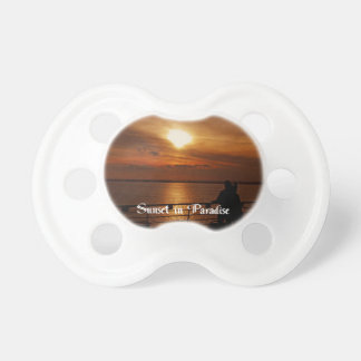 A Beautiful sunset on a Cruise Ship Baby Pacifiers