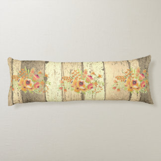 A beautiful Water Color Spring Floral Body Pillow