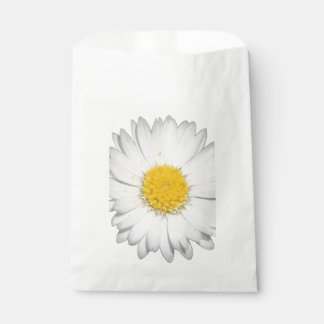 A Beautiful Yellow And Wild White Daisy Favour Bag