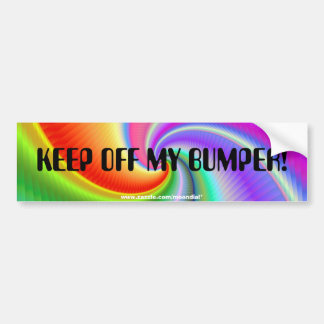 A beautifully coloured bumper sticker with a fract