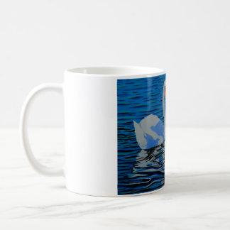 A beautifully designed swan mug, a unique gift. coffee mug