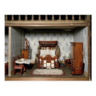 A bedroom in 'Mrs Bryant's Pleasure', c.1860 Postcard