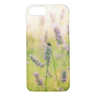 A bee on the lavender iPhone 8/7 case