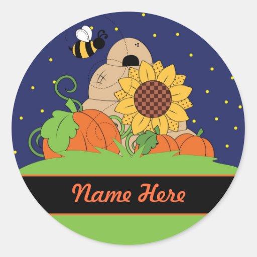 A Beehive In A Pumpkin Patch Sticker