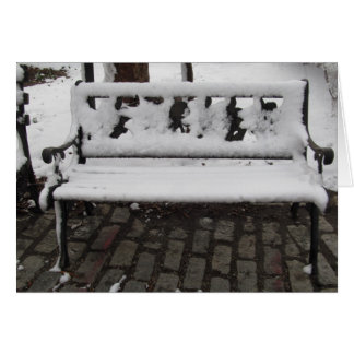 A Bench In Winter Card