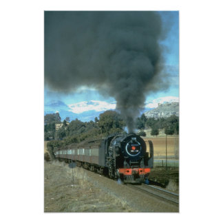 A Bethlehem to Bloemfontein train approaches Owant Poster