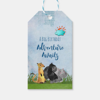 A Big Birthday Adventure Awaits Whimsical Animals Gift Tags