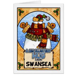 A Big Blustery Hug from Swansea Card