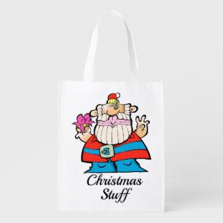 A Big, Merry Christmas Santa Reusable Bag