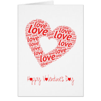 A Big Red Love Heart   Valentines Day Card