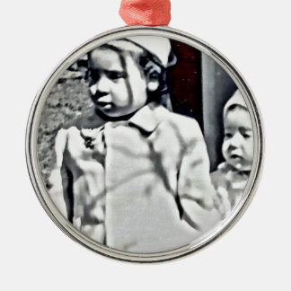 A Big Sister will always be there for you! Silver-Colored Round Decoration