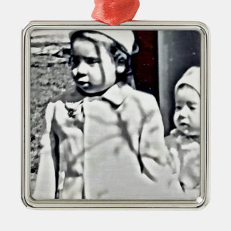 A Big Sister will always be there for you! Silver-Colored Square Decoration