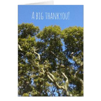 A big thankyou tree card
