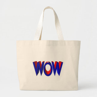 A Big Wow Text Tote Bags