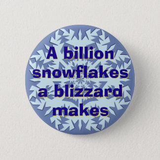A Billion Snowflakes 6 Cm Round Badge