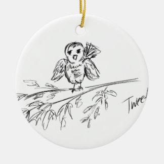 A Bird, The Original Tweet Ceramic Ornament