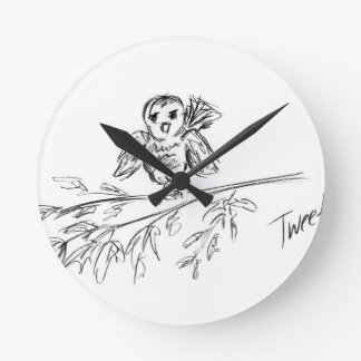 A Bird, The Original Tweet Round Clock
