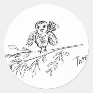 A Bird, The Original Tweet Round Sticker