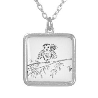 A Bird, The Original Tweet Silver Plated Necklace