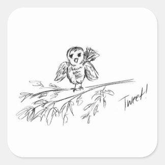 A Bird, The Original Tweet Square Sticker