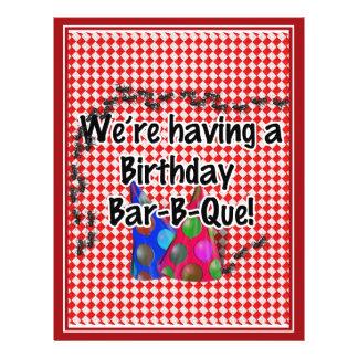 A Birthday Bar-B-Q Party 21.5 Cm X 28 Cm Flyer