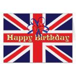 A Birthday card with a Union Jack