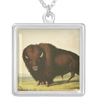 A Bison, c.1832 Silver Plated Necklace