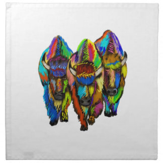 A Bison Trio Napkin