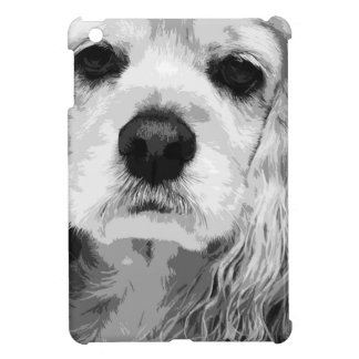 A black and white American cocker spaniel Case For The iPad Mini
