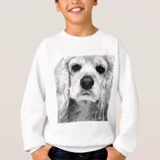 A black and white American cocker spaniel Sweatshirt