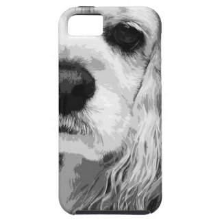 A black and white American cocker spaniel Tough iPhone 5 Case
