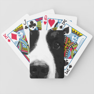 A black and white Bernese mountain dog Bicycle Playing Cards