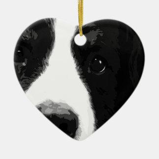 A black and white Bernese mountain dog Ceramic Ornament