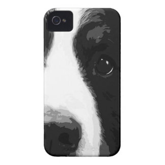 A black and white Bernese mountain dog iPhone 4 Covers