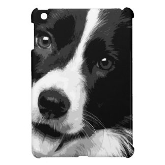 A black and white Border collie iPad Mini Case