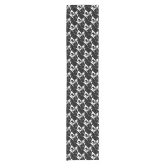 A black and white Border collie Short Table Runner