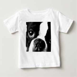 A black and white Boston terrier Baby T-Shirt