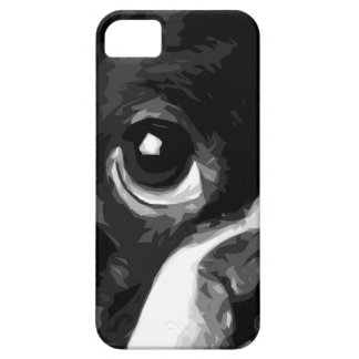 A black and white Boston terrier Barely There iPhone 5 Case
