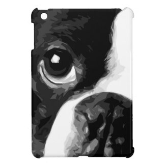 A black and white Boston terrier Case For The iPad Mini