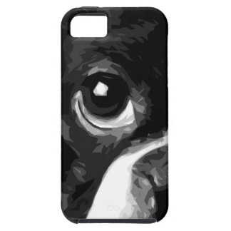 A black and white Boston terrier Case For The iPhone 5
