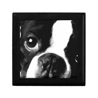 A black and white Boston terrier Gift Box
