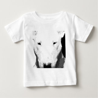 A black and white Bull terrier Baby T-Shirt