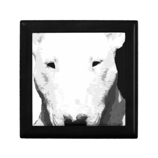 A black and white Bull terrier Gift Box