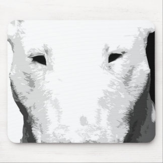 A black and white Bull terrier Mouse Pad