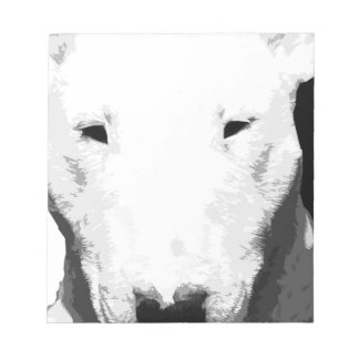 A black and white Bull terrier Notepad