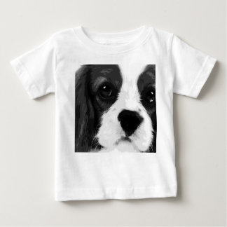 A black and white Cavalier king charles spaniel Baby T-Shirt
