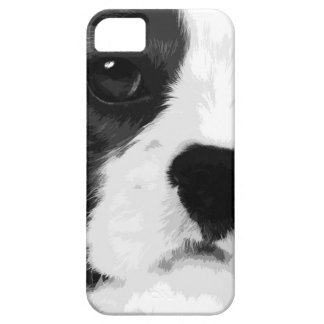 A black and white Cavalier king charles spaniel Case For The iPhone 5