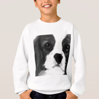 A black and white Cavalier king charles spaniel Sweatshirt