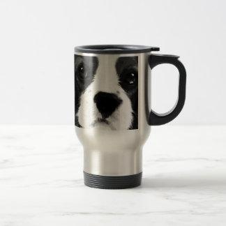 A black and white Cavalier king charles spaniel Travel Mug