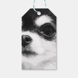 A black and white Chihuahua Gift Tags